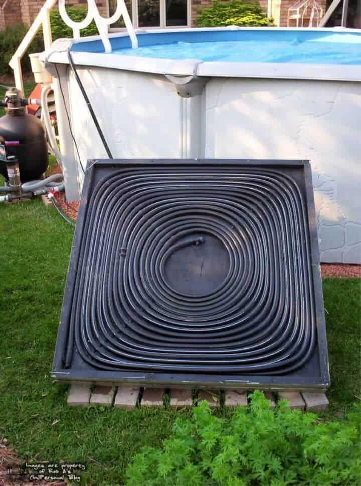 diy above ground pool water heater