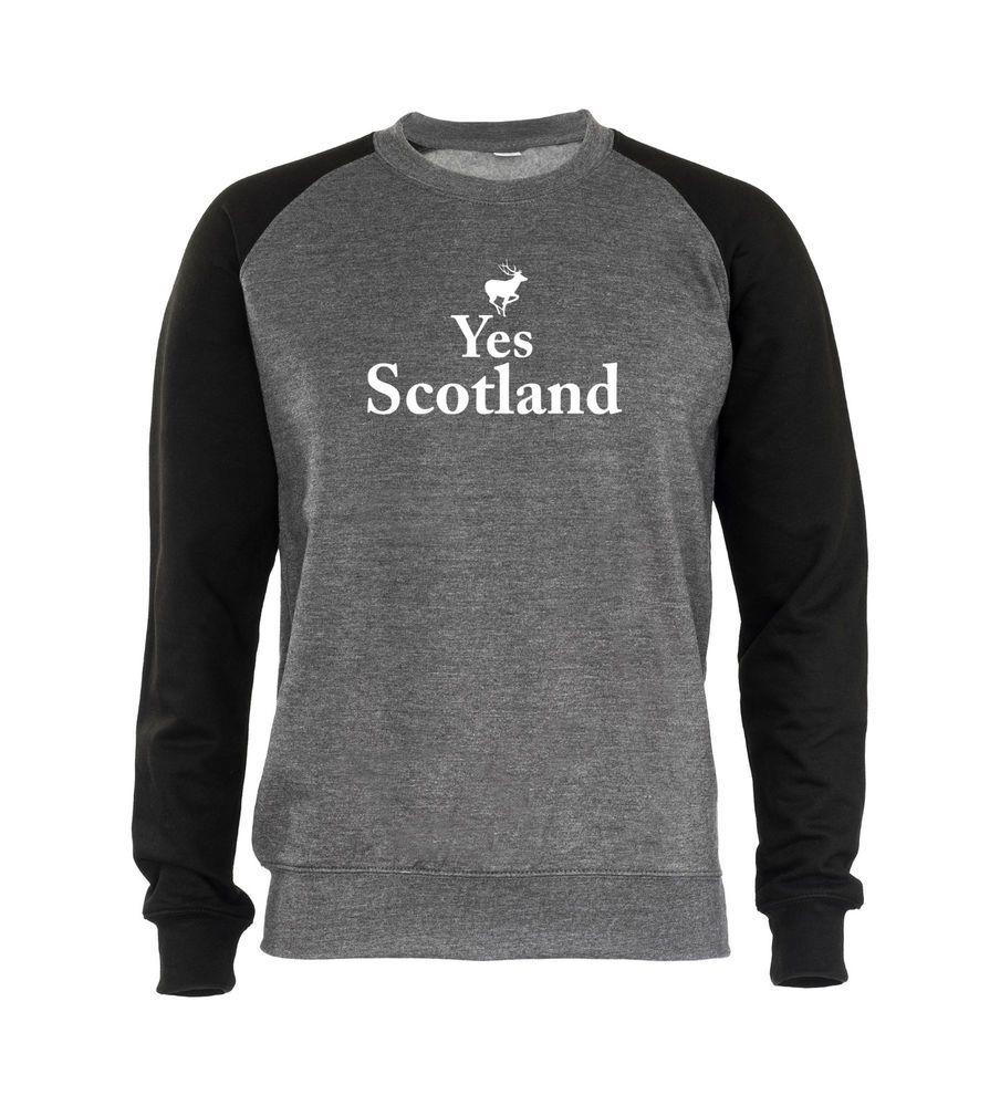 Yes Scotland Mens Sweatshirt Novelty Scottish Independence Vote Yes Campaign  #GET2WEAR #Sweatshirt