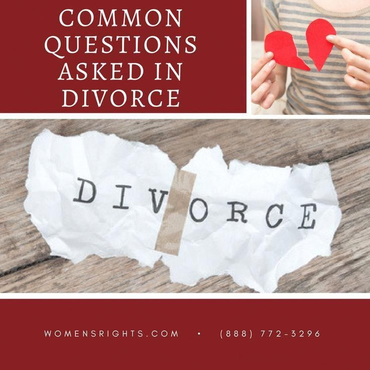 Common questions asked in divorce divorce resources