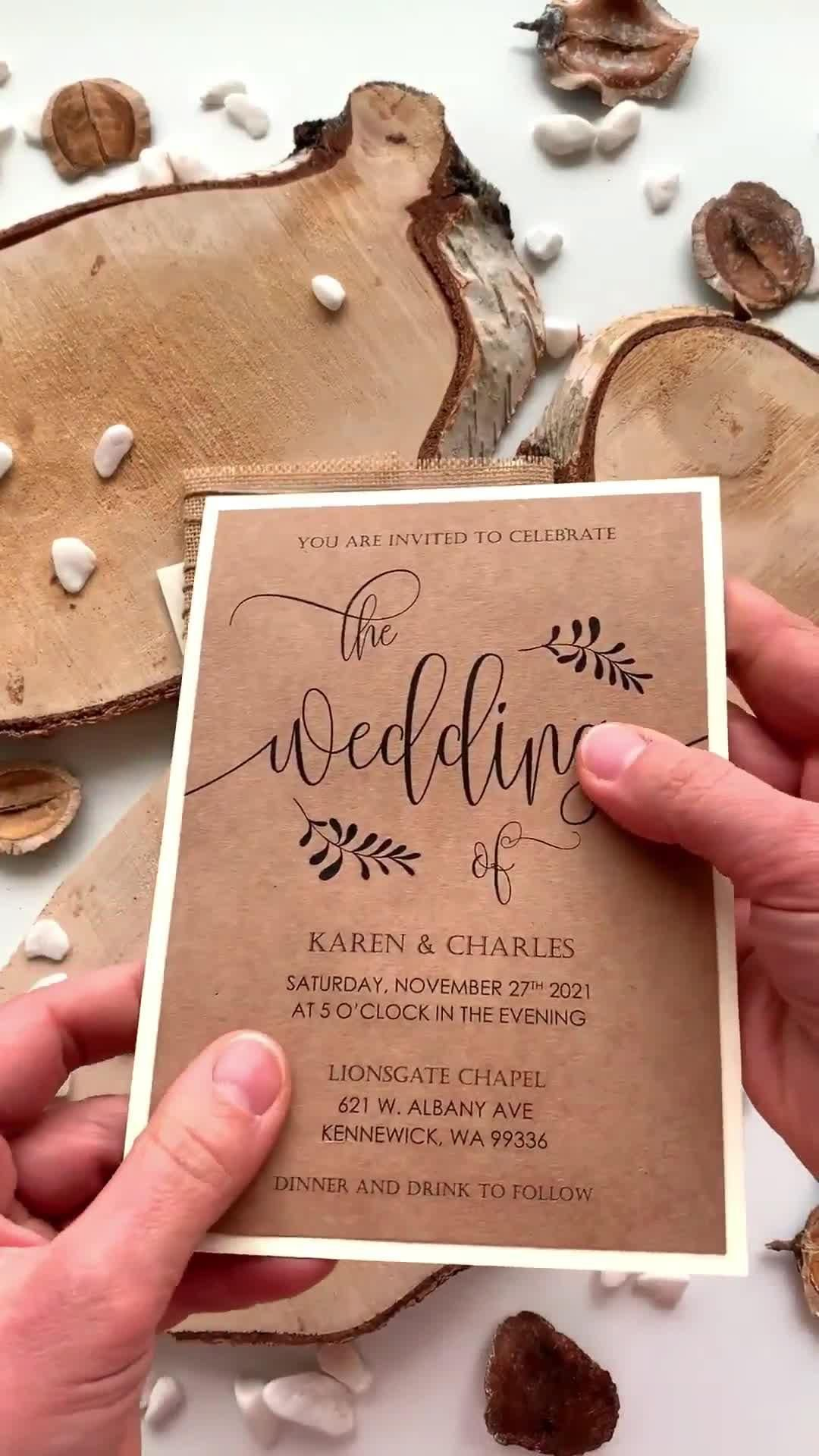 We Do Wedding Invitations, Wood Rustic Wedding Invitations – Boda fotos
