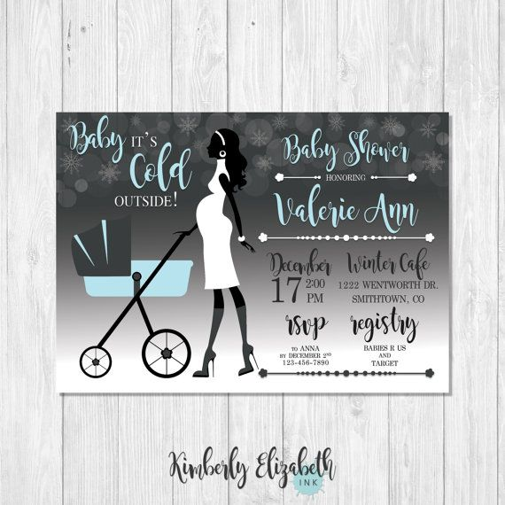Baby It S Cold Outside Baby Shower Invitation Pregnant Outside Baby Showers Baby Cold Baby Shower Invitations