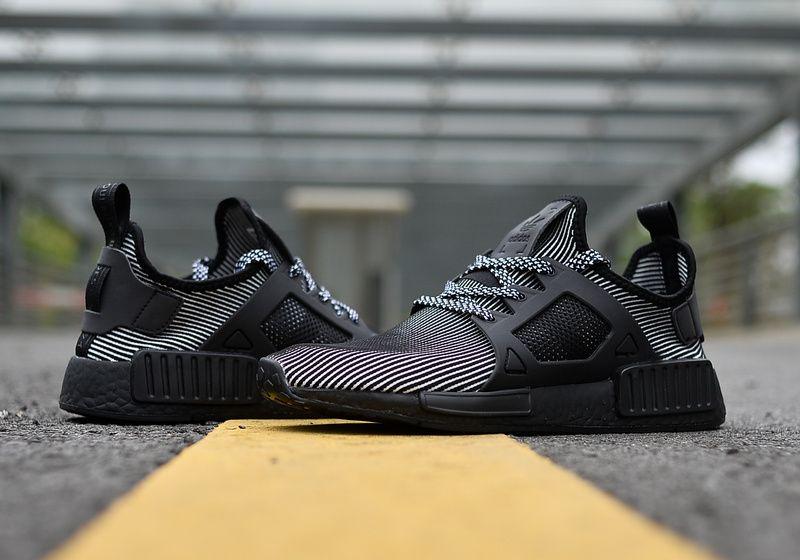 Adidas NMD R1 Primeknit STLT Black Trainers Cheap UK