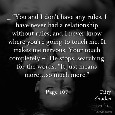 "Quotes From 50 Shades Of Grey You And I Don't Have Any Rules."" Quote From 50 Shades Darker Page ."