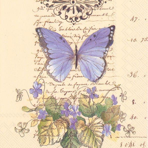 20 Napkins Butterflies IHR 25 x 25 cm