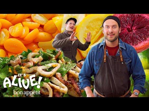 1 Brad Makes Fermented Citrus Fruits It S Alive Bon Appetit Youtube Bon Appetit Citrus Fruit Vegetarian Recipes