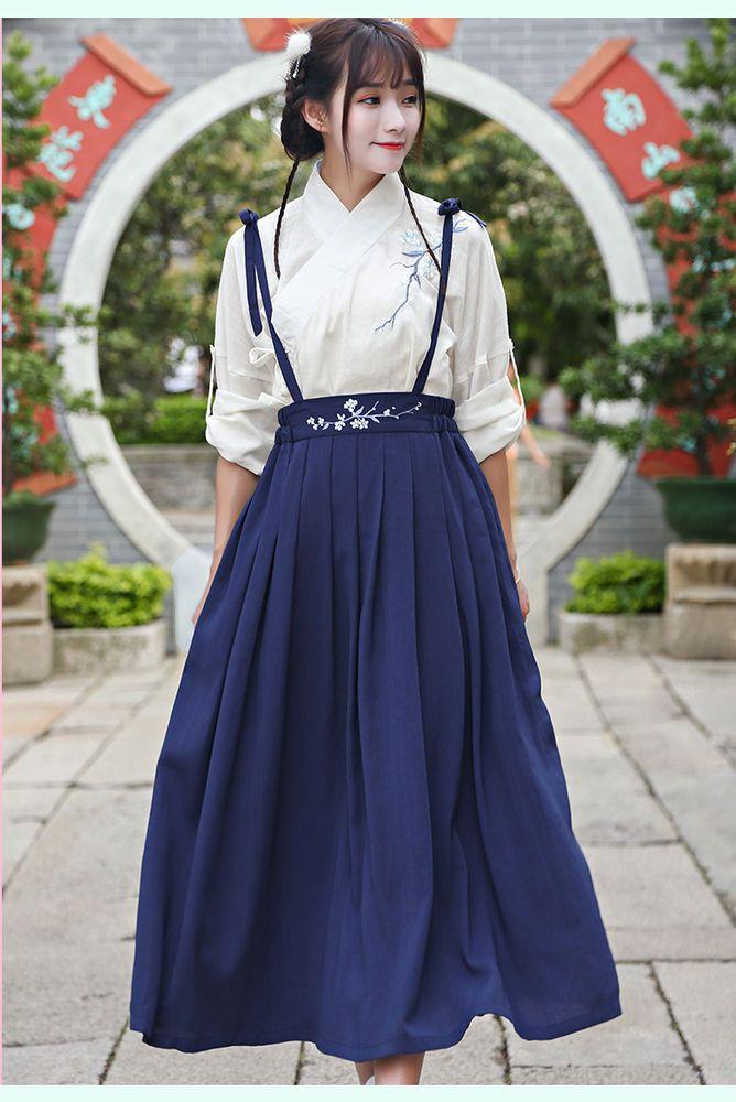 dbbcaf958 eBay #Sponsored Chinese Ancient Traditional Hanfu Women Fusion Modern  Hanbok Strap dress Cosplay