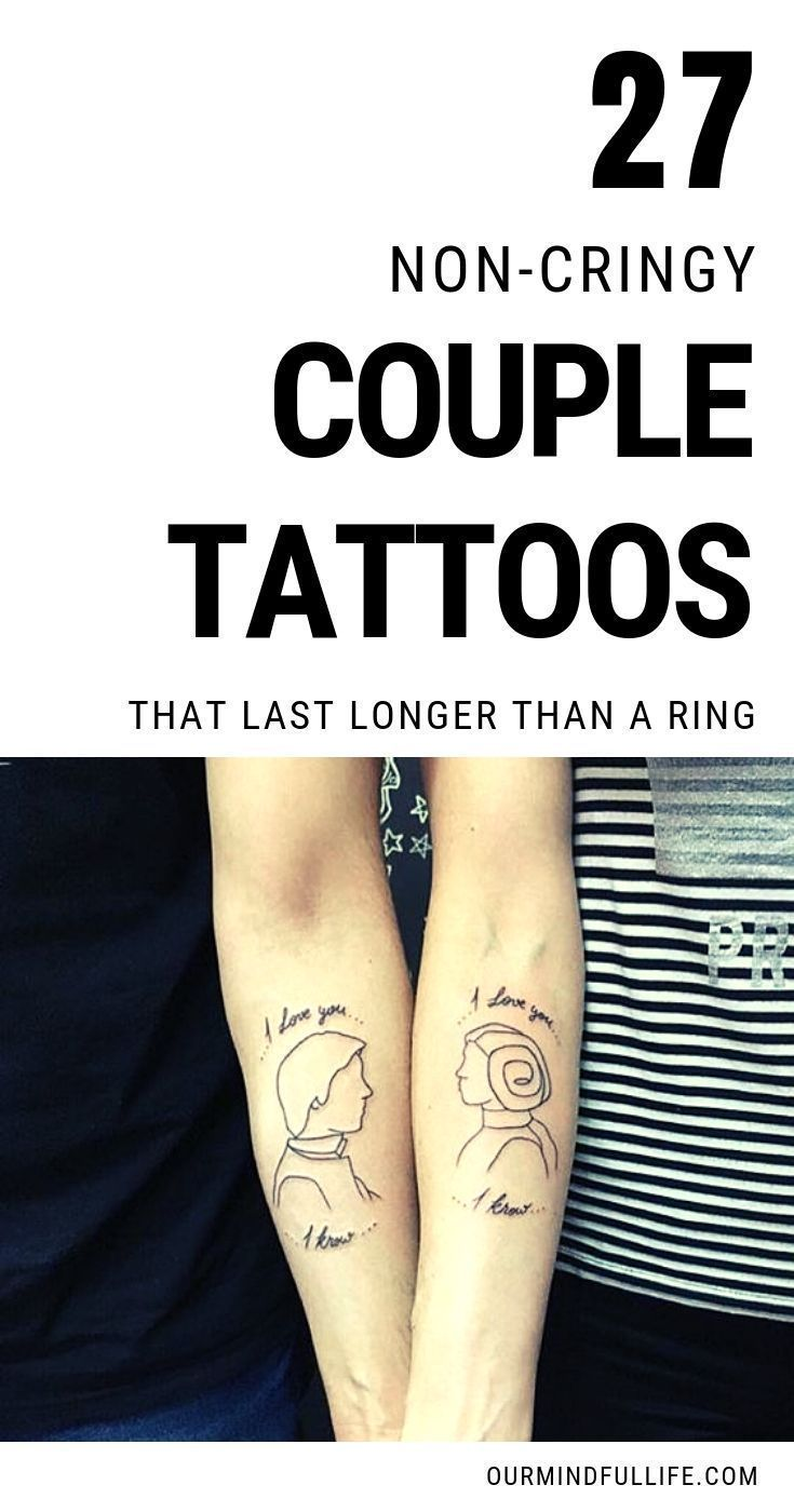 27 Noncringy couple tattoo ideas that scream