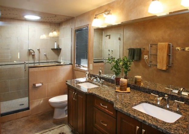Bathrooms With Tan And Brown Colors Baltic Brown