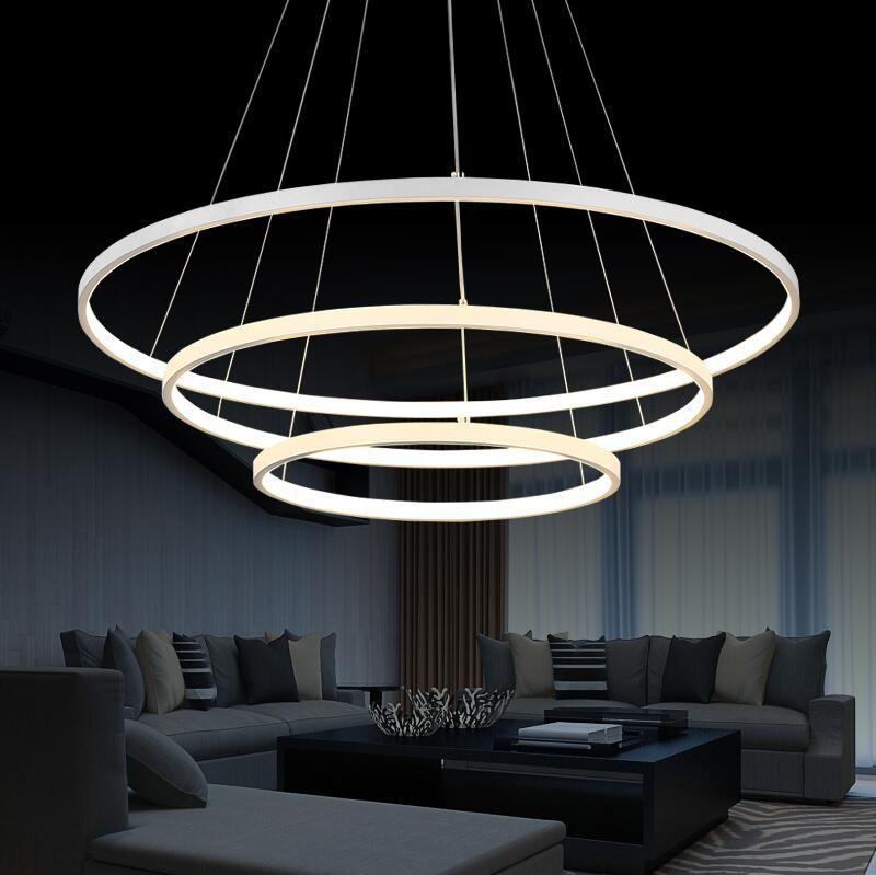Pas cher Moderne LED lustre pour salon salle à manger Acrylique en - lustre pour salle a manger