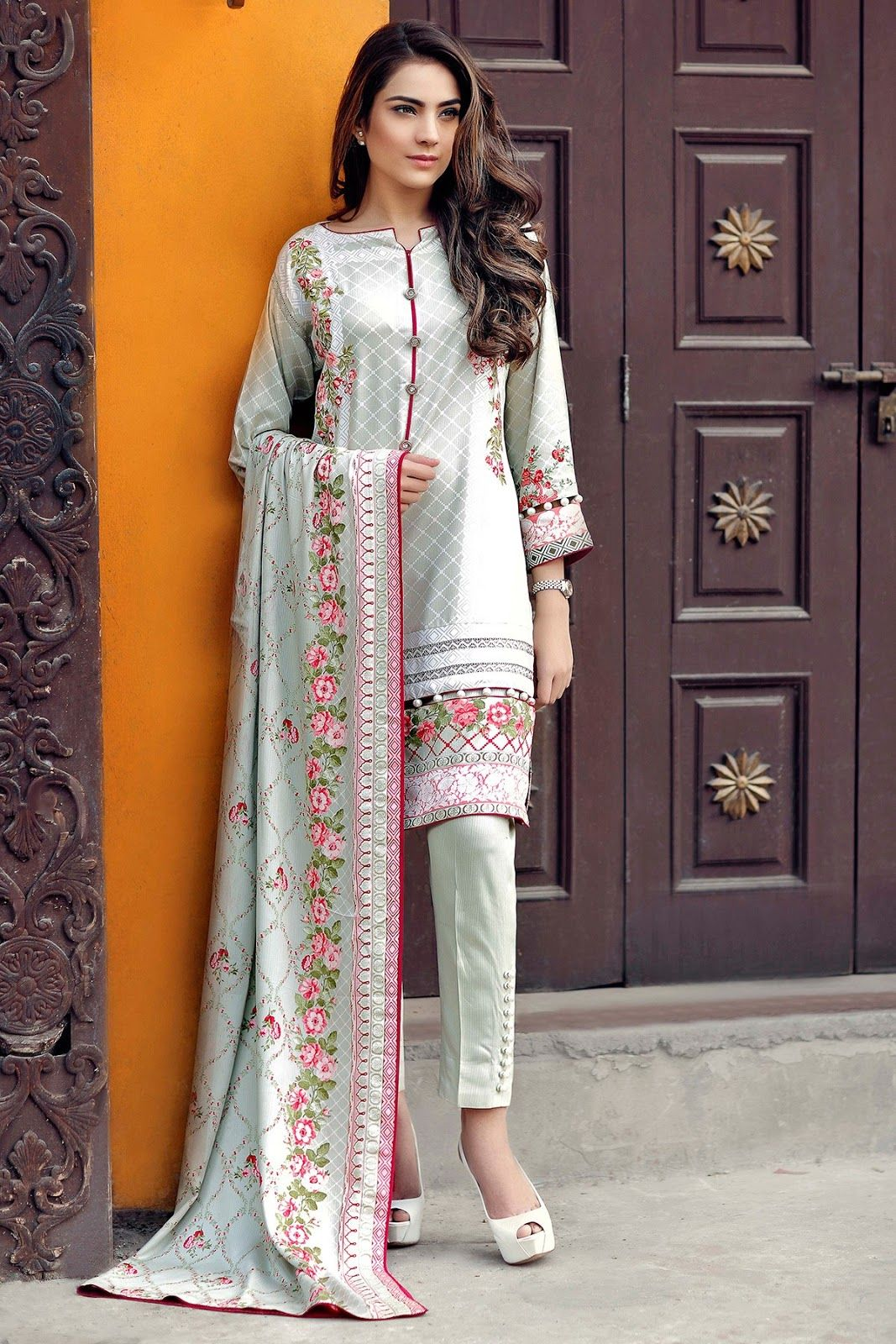 Alkaram Studio Winter Collection 2016 Vol 2 2 Piece Collection 2 Piece Cottel Line Pakistani Fashion Casual Pakistani Dress Design Pakistani Fashion Party Wear