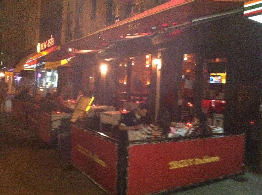 Outdoor Seating Of Manhattan Kosher Restaurants Talia S