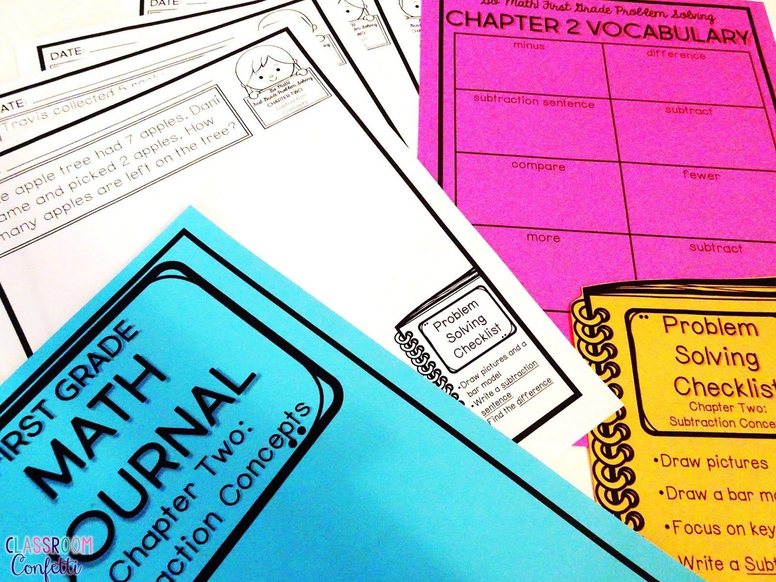 Go Math Journals for First Grade | Math journals, Math and ...