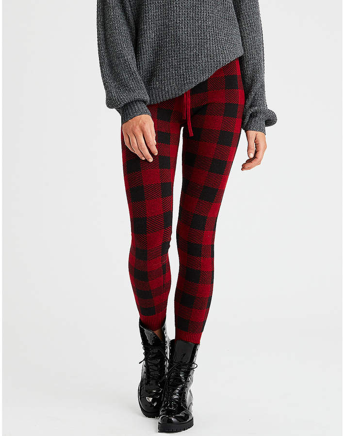 805abd867735d American Eagle Buffalo Plaid Sweater Legging