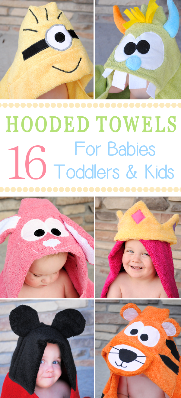 16 Children S Hooded Towels To Sew Sewing For Kids Baby Sewing