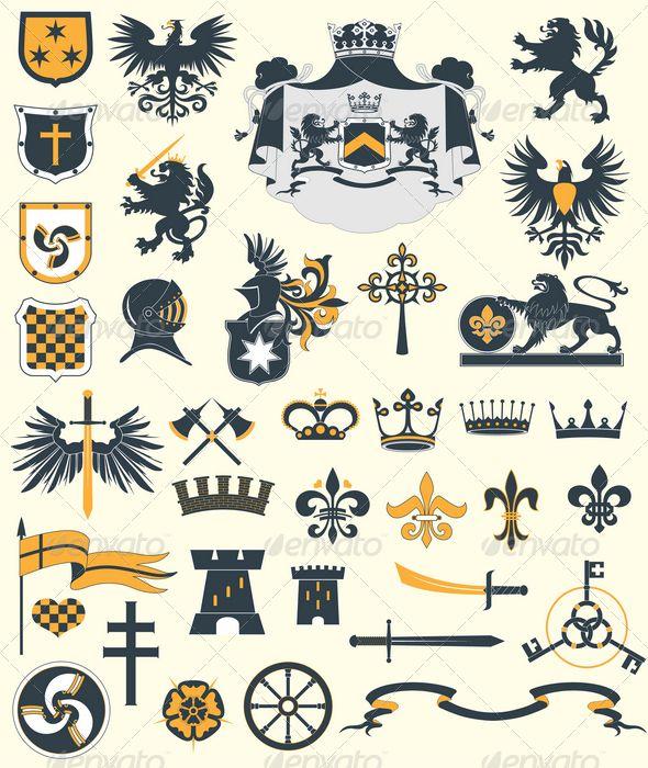 Full Details Of Knight S Heraldic Symbol For Digital Design And