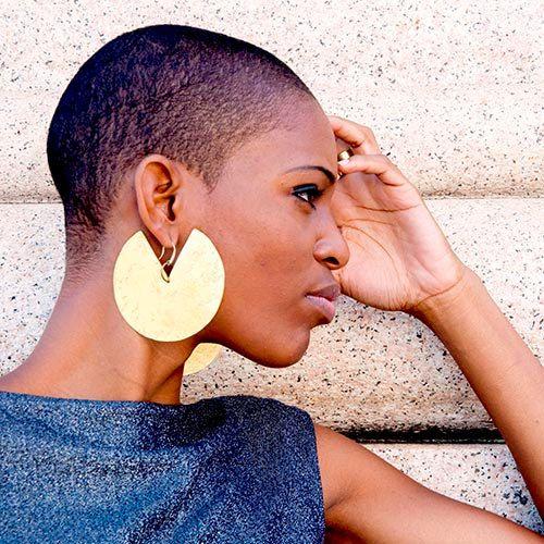aee1605b21dc African earrings, tribal earrings, african jewelry, ethnic earrings,  Minimalist hammered Brass earring