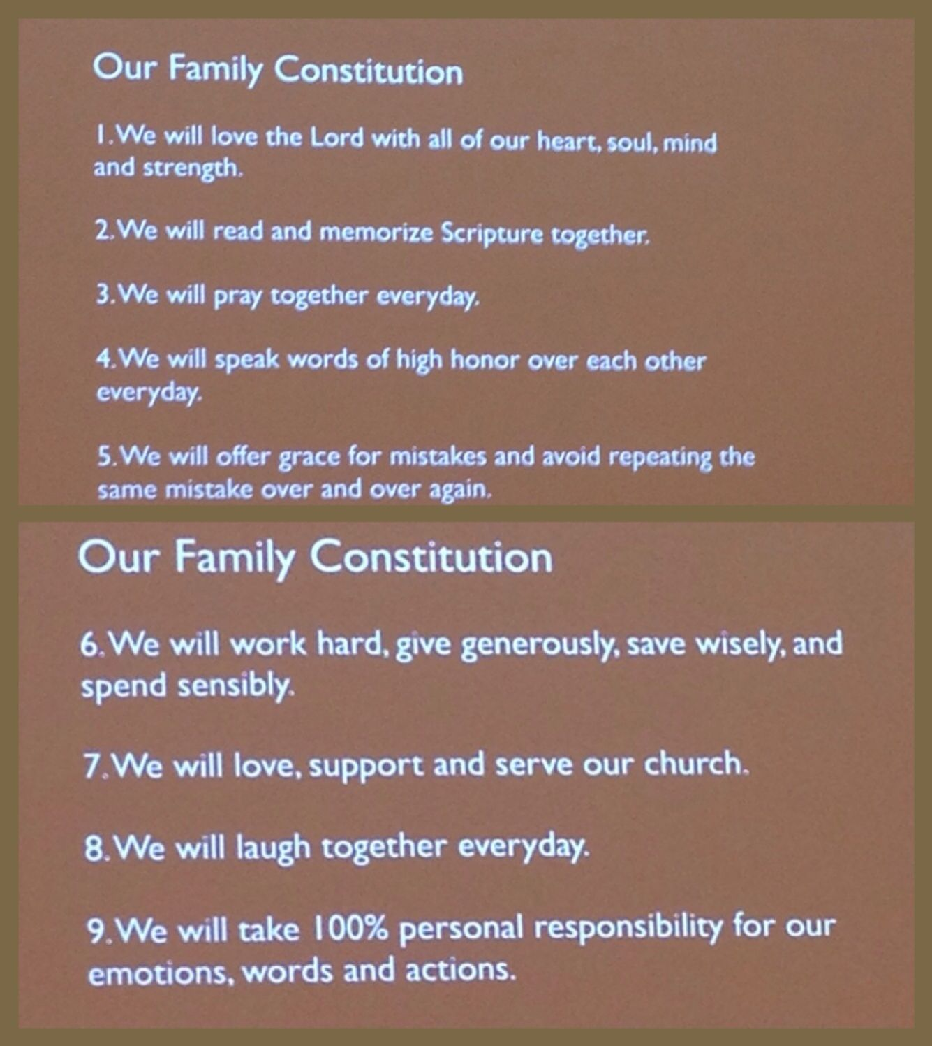 Family Constitution How To Memorize Things Constitution Ideas