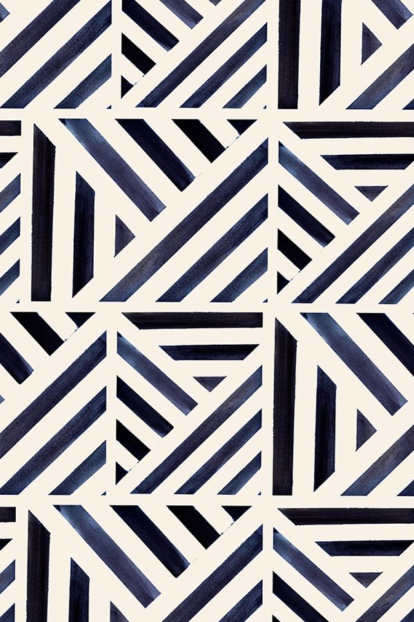 Bold Watercolor Stripes Triangle Pattern These Bold Blue