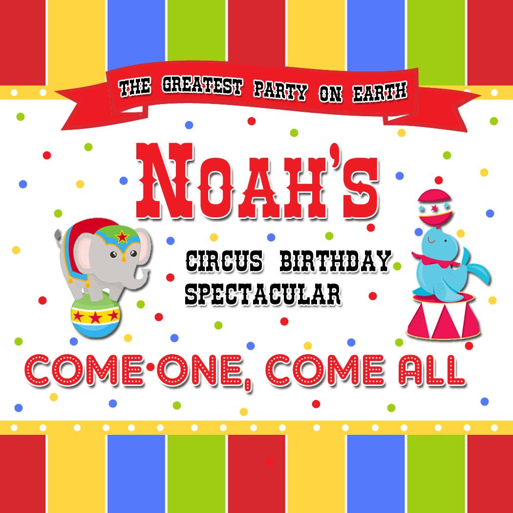 Circust Theme Birthday Gift Tags or Jar Labels available at www ...