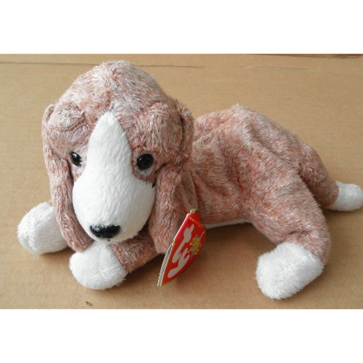 Details About Ty Beanie Baby 6 Franklin Brown Dog Plush Stuffed