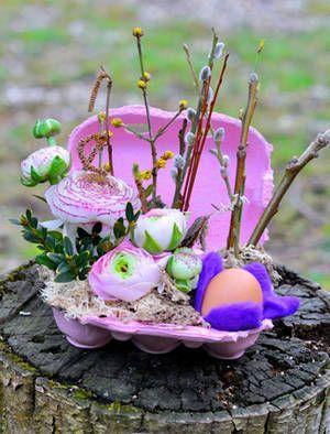 Tischschmuck selber basteln  Oster-Tischschmuck selbst gemacht - So wird Ostern zum Fest ...