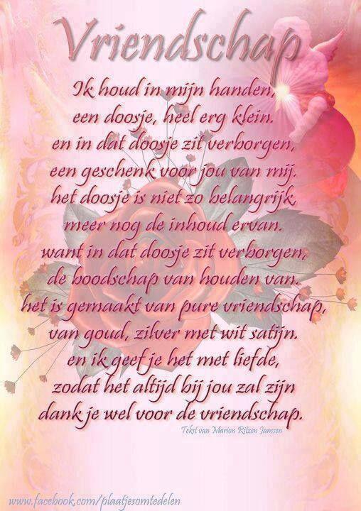 Pin Van Magretha Moesnadi Op Teksten Vriendschap Gedichten