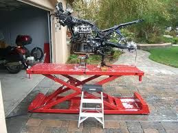 Image Result For Motorcycle Lift Harbor Freight Motorcycle Lift Table Lift Table Bike Lift