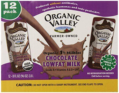 Organic Valley, Lowfat Chocolate Milk (1% Milkfat), 8-Ounce Aseptic Cartons (Pack of 12)