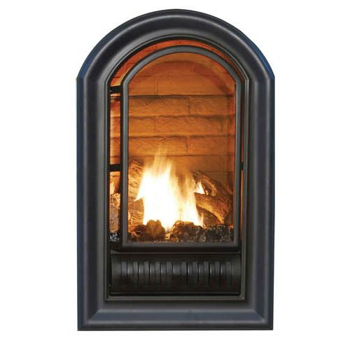 Gas fireplace and Arch