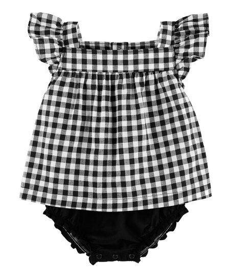 Carters Baby Girls Infant Gingham Sunsuit