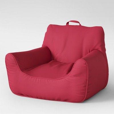 Superb Easy Chair Medium Removable Cover Red Pop Pillowfort Machost Co Dining Chair Design Ideas Machostcouk