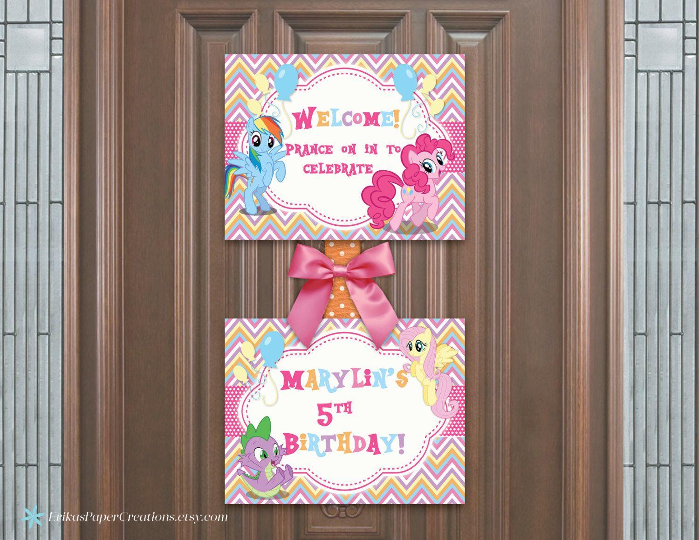 My Little Pony Rainbow Chevron Door Welcome Sign Printable Digital Download by ErikasPaperCreations on Etsy & My Little Pony Rainbow Chevron Door Welcome Sign Printable Digital ...