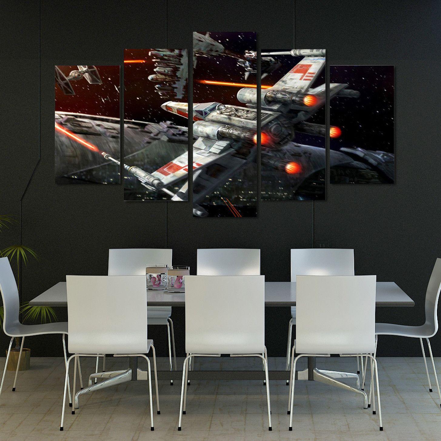 Rebellion 5 Piece Canvas Print Gaze Star Wars Decor Canvas Art Prints Home Decor