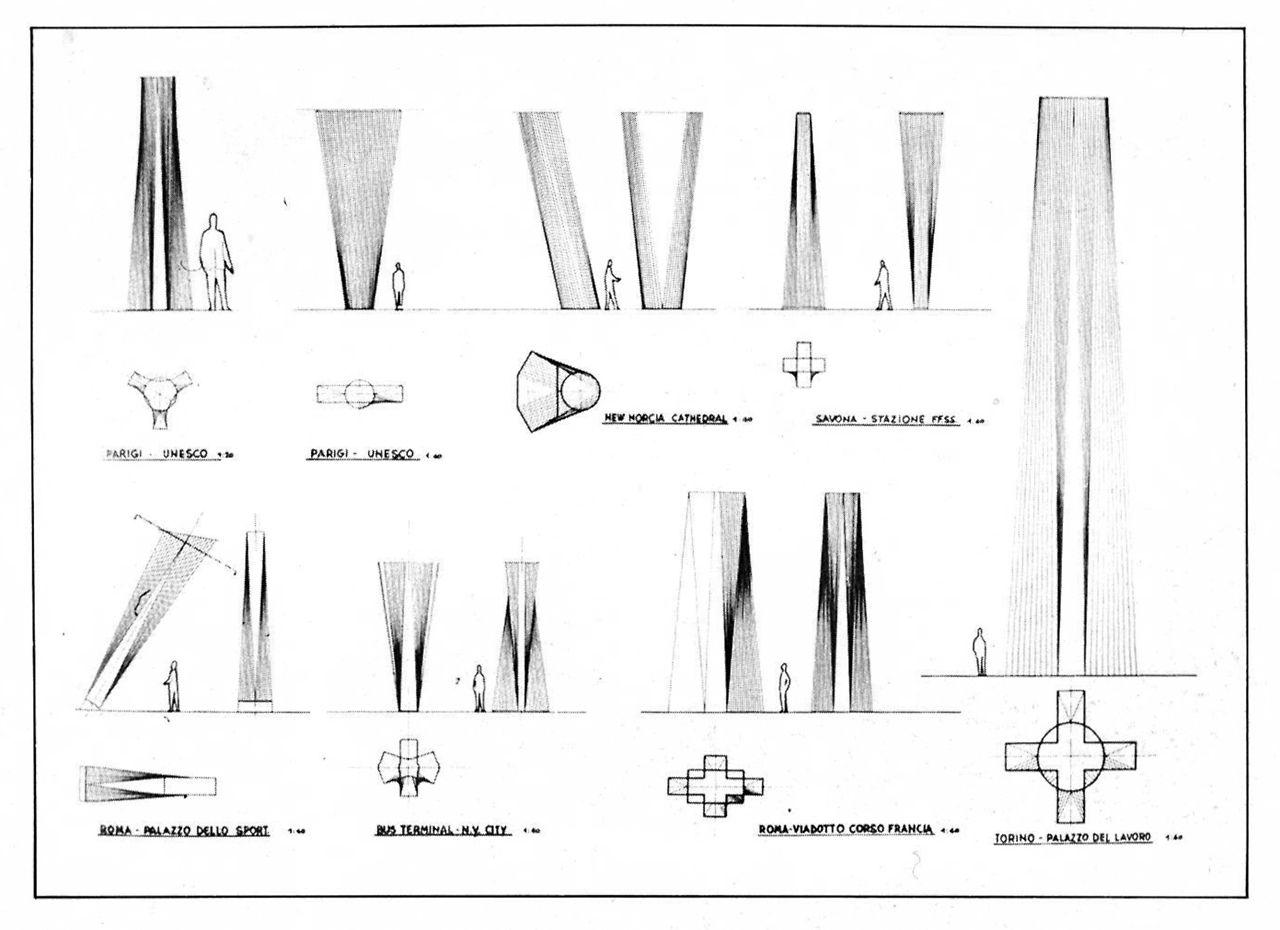DIA_STRUCT_Pier Luigi Nervi, Diagrams of Columns | Design Ideas ...