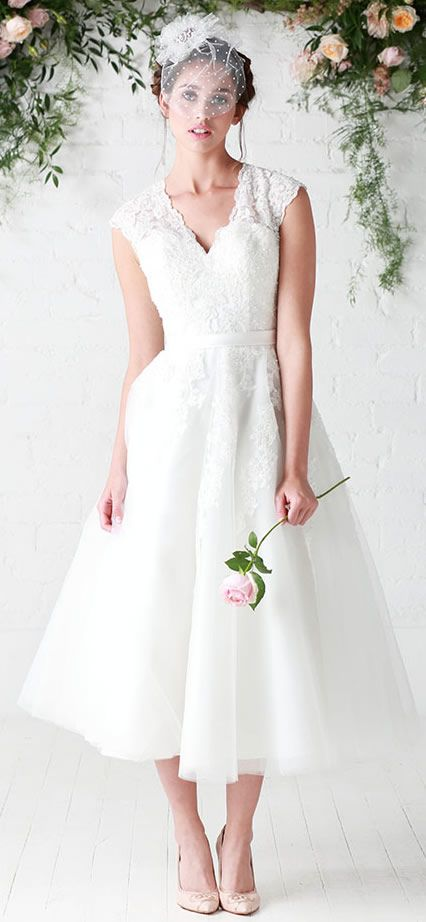 Peggy Tea Length Wedding Dress Charlotte Balbier Untamed Love Collection