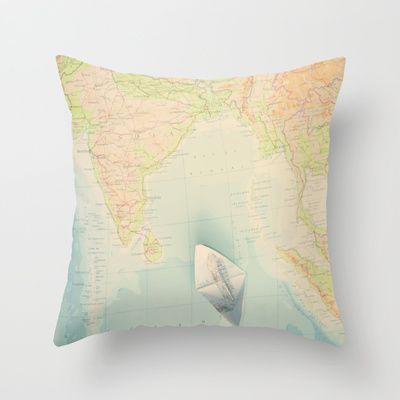adventures to India Throw Pillow by Ingz - $20.00