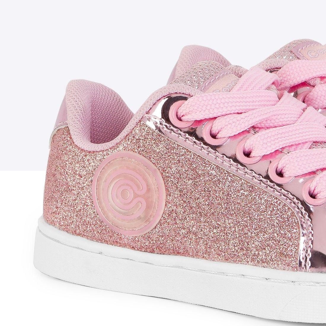 d3488cbca Zapatillas con Luces de Niña Glitter Rosa - Conguitos