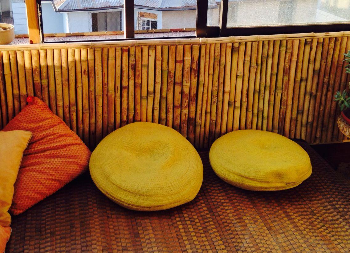Revestimiento terraza balcón con Colihue, bambu chileno