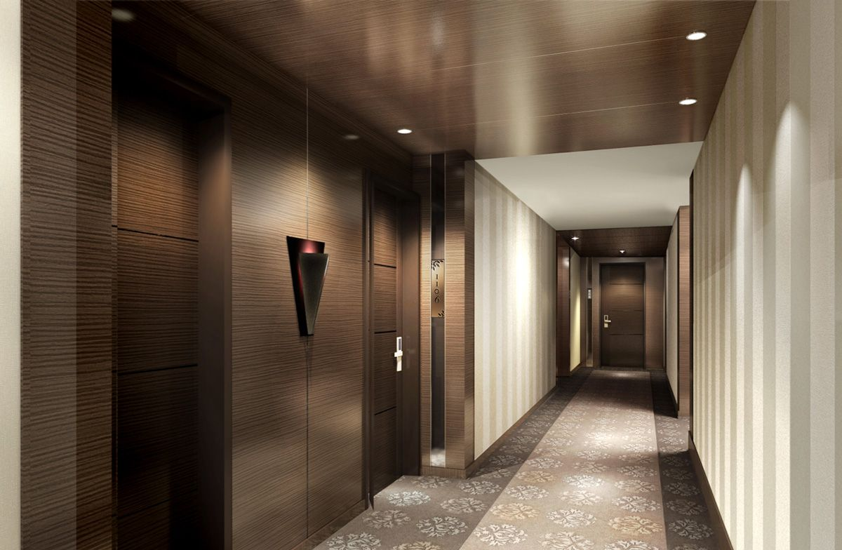 Hba Graphics Fairmont Jakarta Interior Architecture Design Hotel Corridor Hotel Hallway
