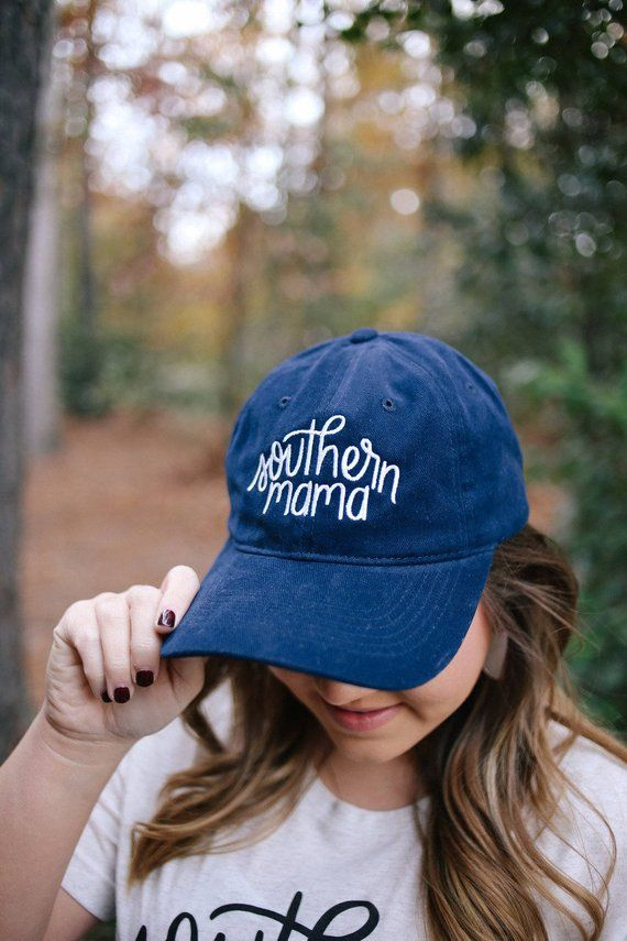 dc58e5dbc Southern Mama | Baseball Cap | Navy Hat | Women's Hat | Hat for Moms ...