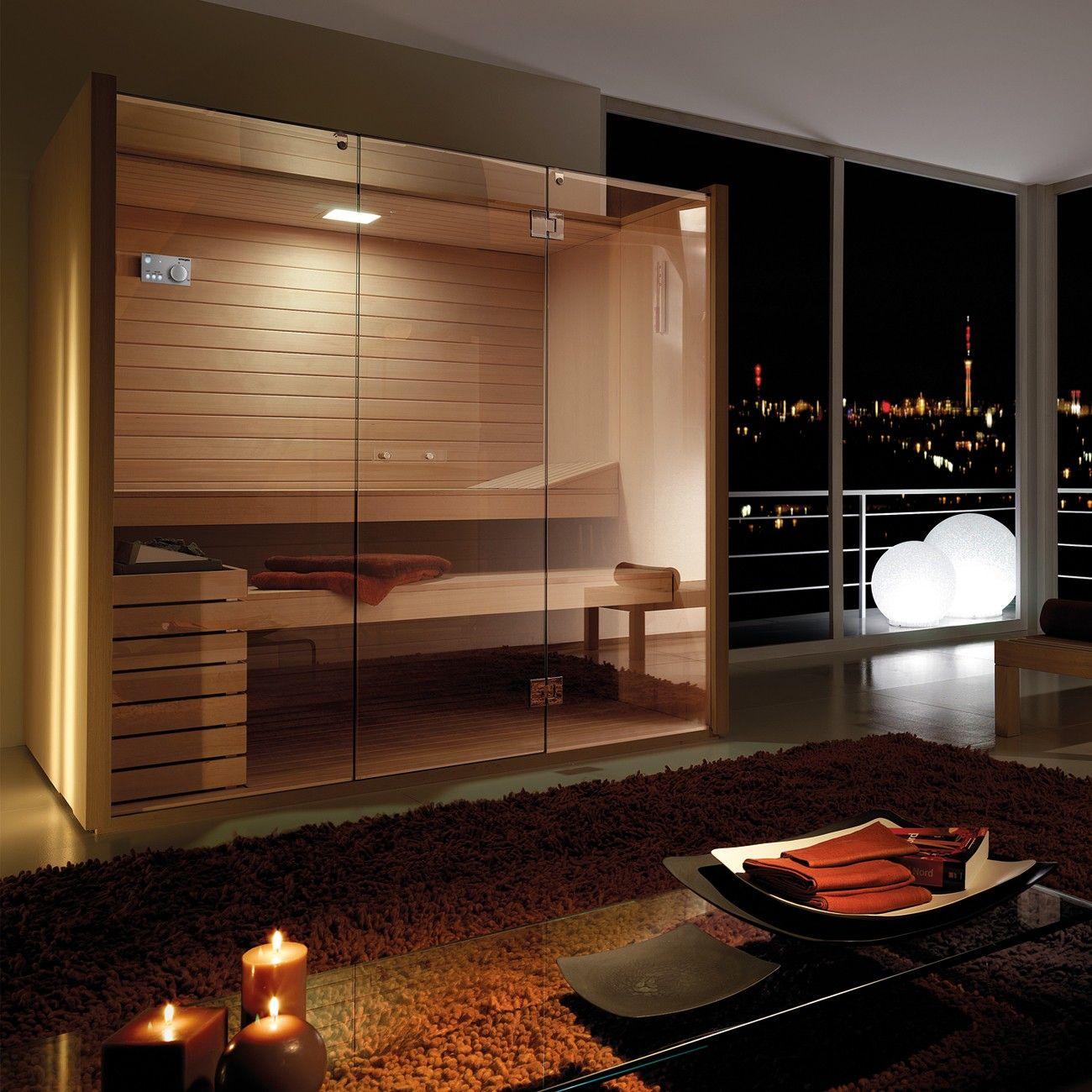 Effegibi italian designer home sky line 60 sauna for Sauna home