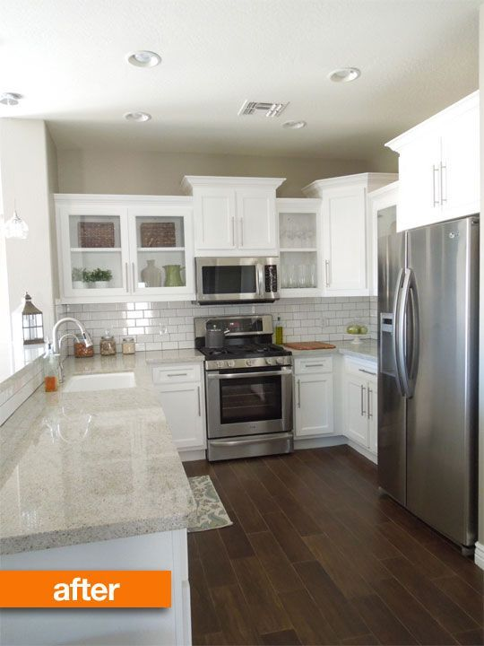 Grey Walls Stainless Steel Appliances White Cabinetry White