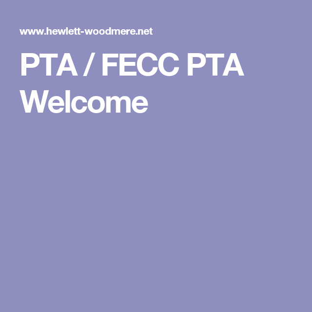PTA / FECC PTA Welcome