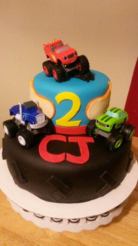 Blaze Monster Truck Cake Cakes Pinterest Truck cakes