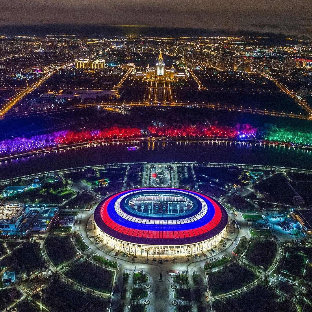 Luzhniki Stadium That Will Host The Opening Game World Cup 2018 Stadium Stadium Design Stadium Architecture