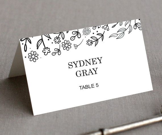 place setting cards templates