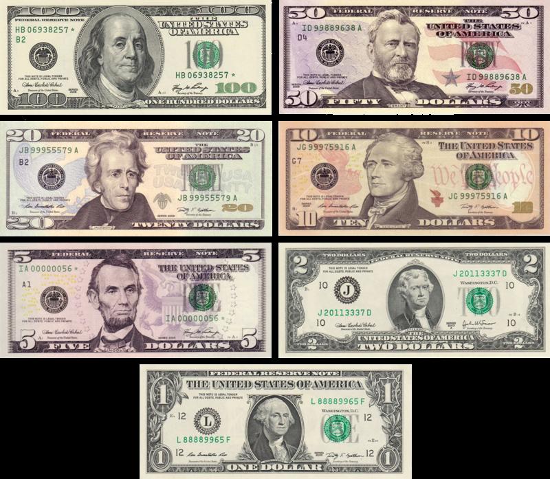Usdnotes Amerikai Dollar Wikipedia Fake Money Money Bill Money Template