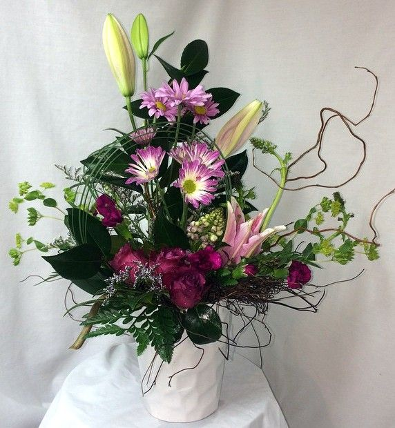 Get well soon bouquet - roses, daisies, and lilies   Everyday ...