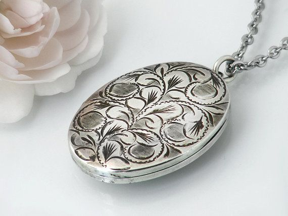 oval picture floral huge locket etsy il big lockets large paisley extra market necklace flower bxji design antiqued silver
