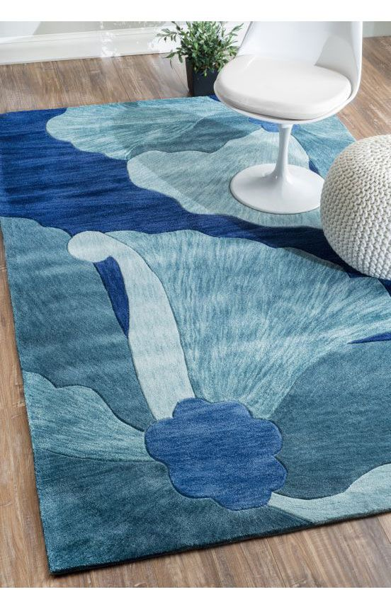 Amulet Floral Tl04 Rug Contemporary Rugs Blue Rug Area Rugs Rugs Usa